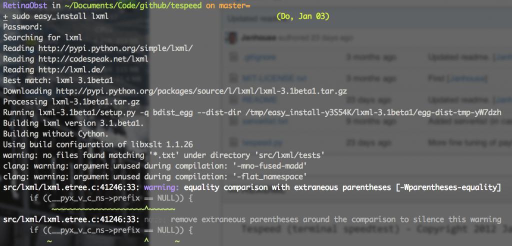 sudo easy_install lxml
