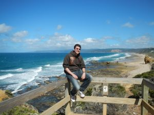 myself at a beach on the great ocean road