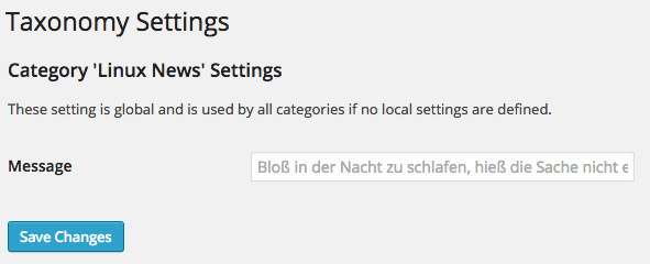 Tax-Settings: Linux News Settings Page