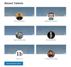 WP Talents: Zuletzt eingetragenen Talents