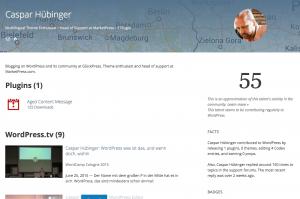 WP Talents: Profil von Caspar Hübinger