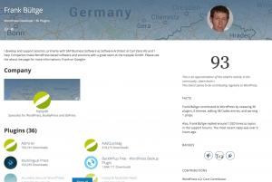 WP Talents: Agentur auf dem Profil sichtbar