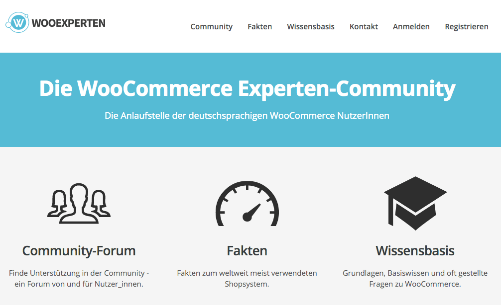 Screenshot von WooExperten