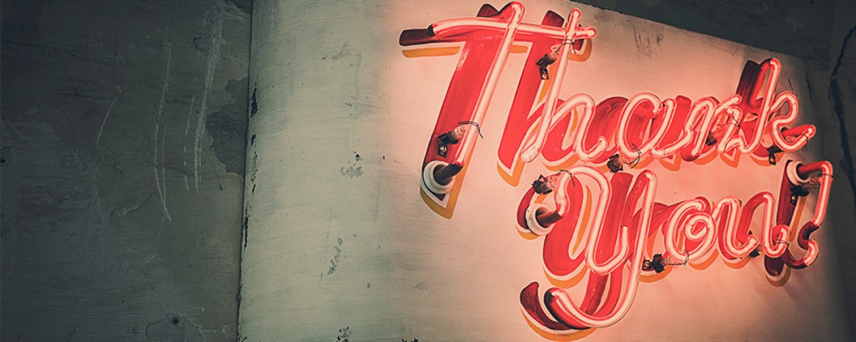 Thank You Neon Sign