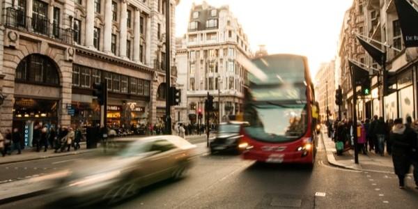 Unsplash: Bus in Traffic