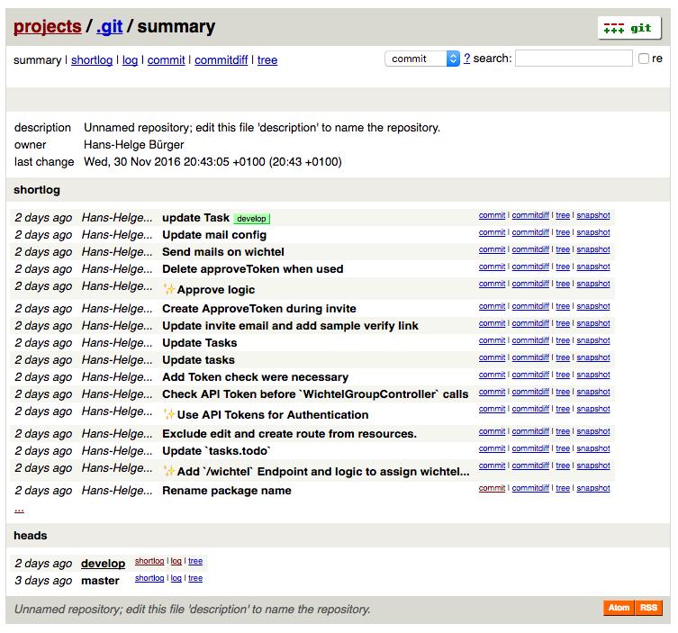 Screenshot der Zusammenfassung mit Auszug des Logs.